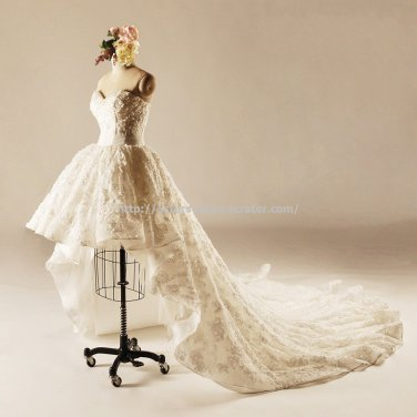 Monarch Train Dresses Beaded with Pearl Lace-up Wedding dresses D2015661