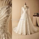 Sweetheart Dresses Long Poet Sleeves Floor-Length Lace Wedding Gown D2015664