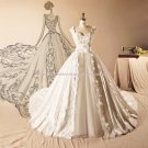 Sweetheart Neck Wedding Dress Sleeveless Appliqued A-Line Floor-Length Bridal Dresses D2015753