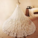 trapless Bridal Dresses Chapel Train Embroiidery Wedding Dresses D2015756