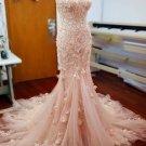 Sweetheart Lace Mermaid Wedding Dress Detachable Train Bridal Dress D2015921