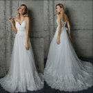 Lace Beach Wedding Dress A-line Tulle Princess Maternity Lace Bridal Gowns Travel Wedding Gown 2018