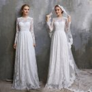 Lace Beach Wedding Dress Long Sleeves Princess Bridal Gowns Travel Beach Country Wedding Gown