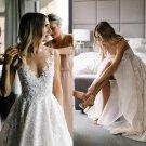 Lace Wedding Dress Sleeveless Bridal Gowns Boho Beach Wedding Gown H1953