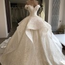 Lace Wedding Dress Off Shoulder Bridal Ball Gowns Custom Made Wedding Gown H91127