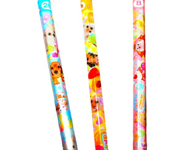 Kawaii Animals Pencil Set  (Puppies, Rabbits, Chicks)-Japan Stationery
