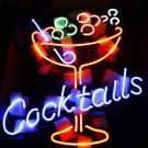 TANBANNER Art Neon Cocktails sign Ninja bracket N100A2
