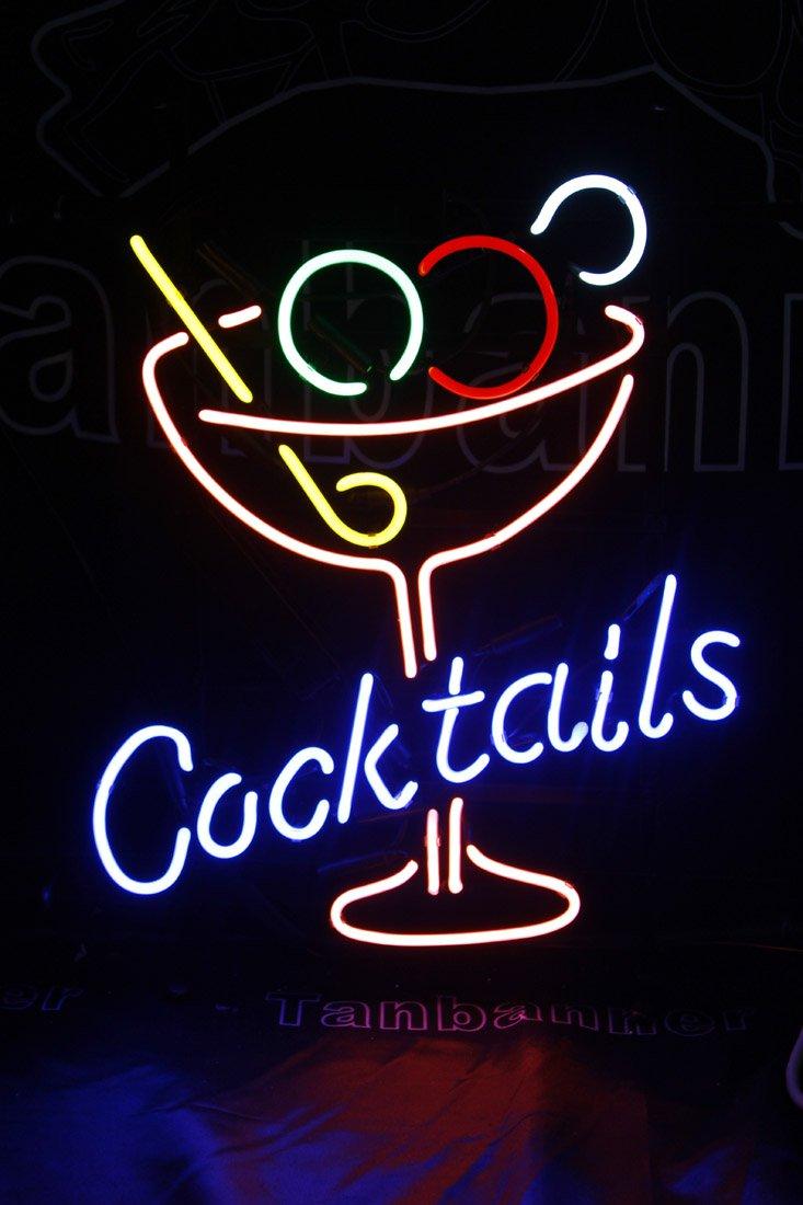TANBANNER Art Neon Cocktails sign Ninja bracket N100A1