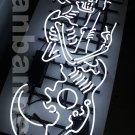 New Tanbanner Rock n Roll with Death and Devil Guitar Neon sign N265