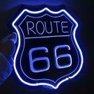 TANBANNER 3D 66 ROUTE Glass Neon Sign Light D026B