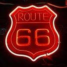TANBANNER 3D 66 ROUTE Glass Neon Sign Light D026A
