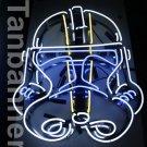 Silver Star wars clone Helmet Neon Sign Light N284C Blue eye
