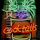 TANBANNER Art Neon Cocktails sign Ninja bracket N100G