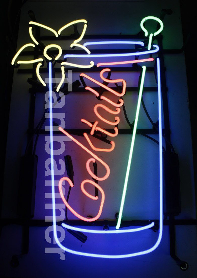 TANBANNER Art Neon Cocktails sign Ninja bracket N100E