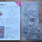 COFFEE CUPS Spinning Spools Quilt Pattern w/Template