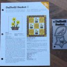 DAFFODIL BASKET Spinning Spools Quilt Pattern w/Template