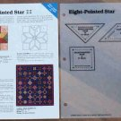 EIGHT-POINTED STAR Spinning Spools Quilt Pattern w/Template