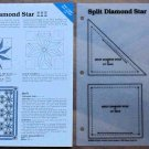 SPLIT DIAMOND STAR Spinning Spools Quilt Pattern w/Template