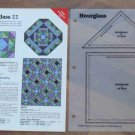 HOURGLASS Spinning Spools Quilt Pattern w/Template