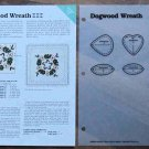 DOGWOOD WREATH Spinning Spools Quilt Pattern w/Template