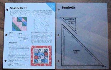 SEASHELLS Spinning Spools Quilt Pattern w/Template