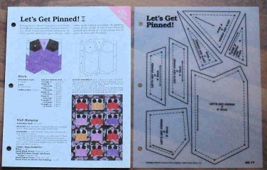 LET'S GET PINNED Spinning Spools Quilt Pattern w/Template