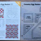 COUNTRY EGG BASKET Spinning Spools Quilt Pattern w/Template