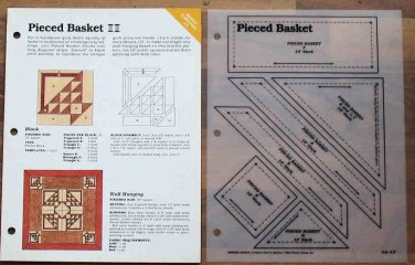 PIECED BASKET Spinning Spools Quilt Pattern with Template