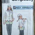 Simplicity Pattern 5946 Daisy Kingdom Misses Girls Fleece Jacket Set NIP