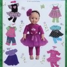 Simplicity 0105 Doll Clothes Pattern 18 Inch Dolls MIP