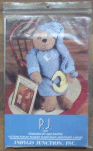 """Pattern Indygo Junction P.J. 28"""" Bear Nightshirt Cap Moon NIP"""
