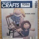 Vintage McCall's Pattern 9286 Blossom Babies Boy Girl Dolls Horse NIP 1984