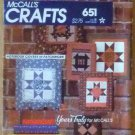 Vintage McCall's Pattern 651 Yours Truly Notebook Covers in Patchwork 1982 NIP