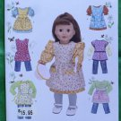 Simplicity 2761 Doll Clothes Pattern 18 Inch Dolls Aprons MIP