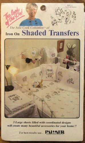 Julie Cook Iron On Shaded Transfers Fabric Painting Lambs & Bunnies NIP