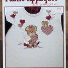 Sewing Fabric Iron-On Applique Valentine Bears Kit NIP