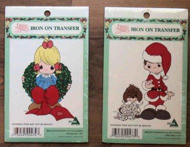 Precious Moments Christmas Iron-on Transfers 1997 MIP