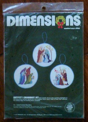 Dimensions Cross Stitch X-Stitch Kit Nativity Ornament Set 8322 NIP 1984