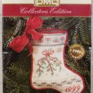 Vintage DMC Cross Stitch X-Stitch Holiday Stocking Ornament Kit NIP 1999