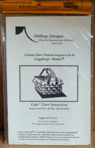 Longaberger Cake Liner Drop-in and Over the Rim Styles Hilltop Designs NIP