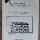 Longaberger Shoulder Purse Lid Cover Hilltop Designs NIP