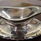 Vtg INTERNATIONAL SILVER CO. Early American Silverplate GRAVY/SAUCE BOAT