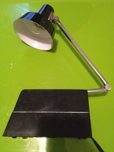Vintage Mobilite Black Task Desk Lamp Adjustable Arm Mid Century