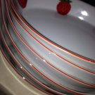 6Beautiful Action Strawberry Designed Double Handled Oval Stoneware Serving Bowl