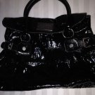 Simply Vera Wang Black Cosette Crocodile Hobo Handbag