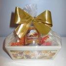 """Warm Apple Pie"" Mini Loaf Pan Gift Basket - Leaves Design"