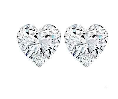 Sterling Silver CZ Heart Shaped Stud Earrings Solitaire Love Women Kids Teen 925