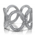 925 Sterling Silver Micro Pave CZ Big Eternity Ring White Cubic ZIrconia