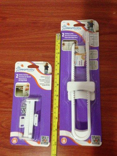 Dreambaby Safety Kit (2 Sliding Locks + 2 Safety Catches)