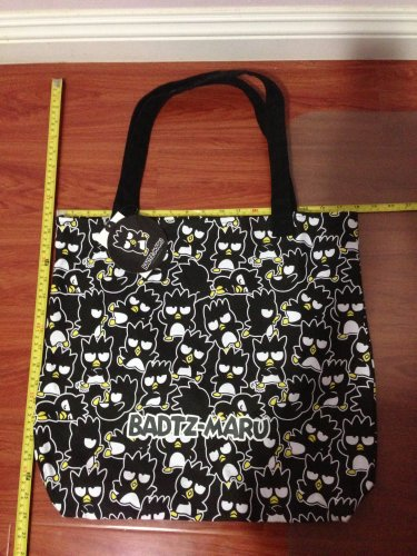 Badtz-Maru Canvas Giant Tote Bag Black Sanrio
